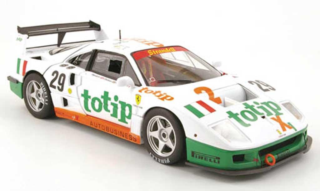 Ferrari F40 LM 1/18 Hot Wheels competizione no.29 totip 24h le mans 1994 miniatura