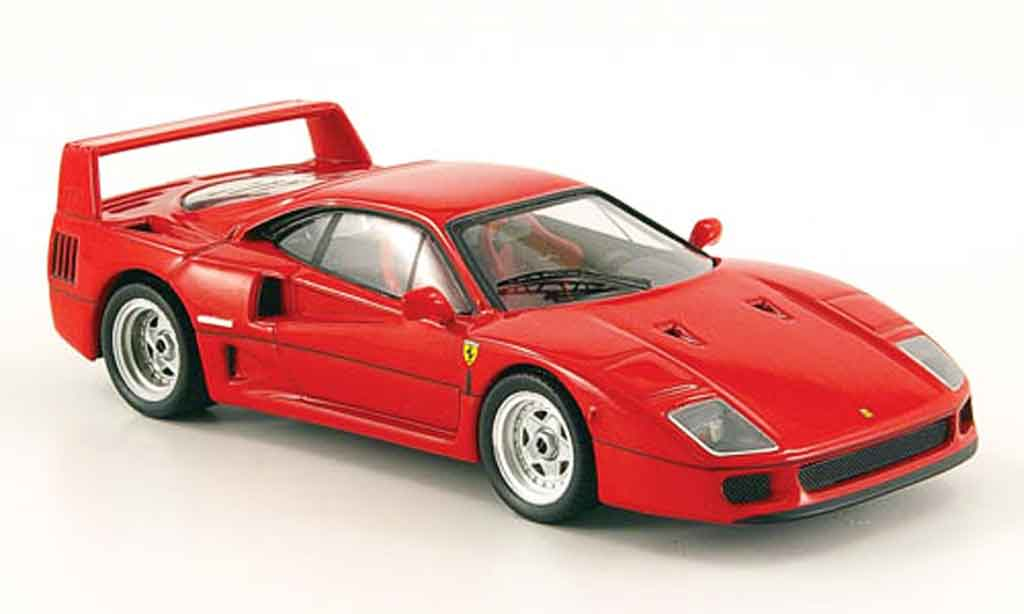 Ferrari F40 1/43 Hot Wheels Elite rosso miniatura