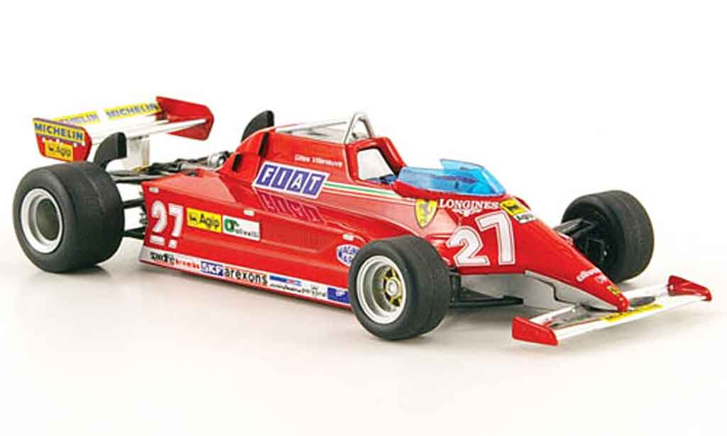 Ferrari 126 1981 1/43 Hot Wheels Elite CK no.27 g.villeneuve diecast