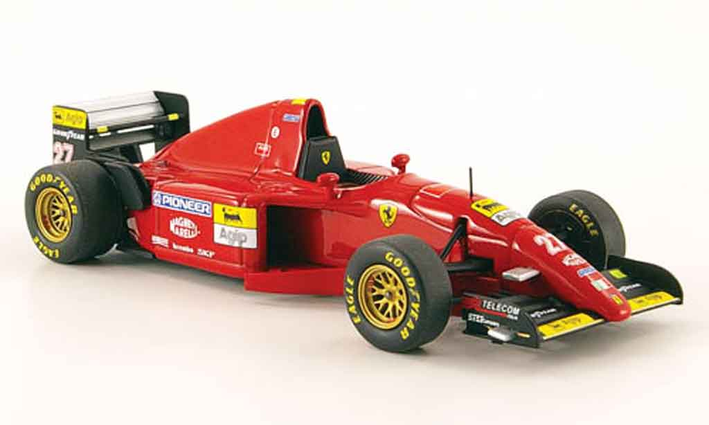 Ferrari 412 1/43 Hot Wheels Elite t2 no.27 j.alesi 1995 miniature