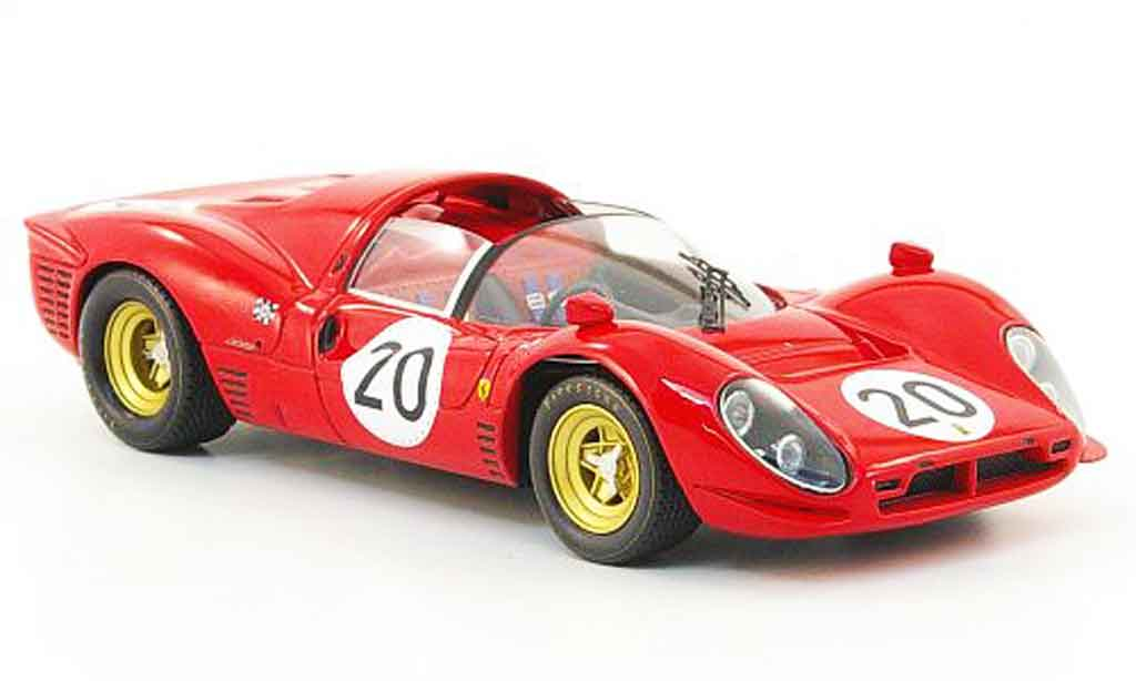 Ferrari 330 P4 1/43 Hot Wheels Elite no.20 24h le mans 1967 miniature