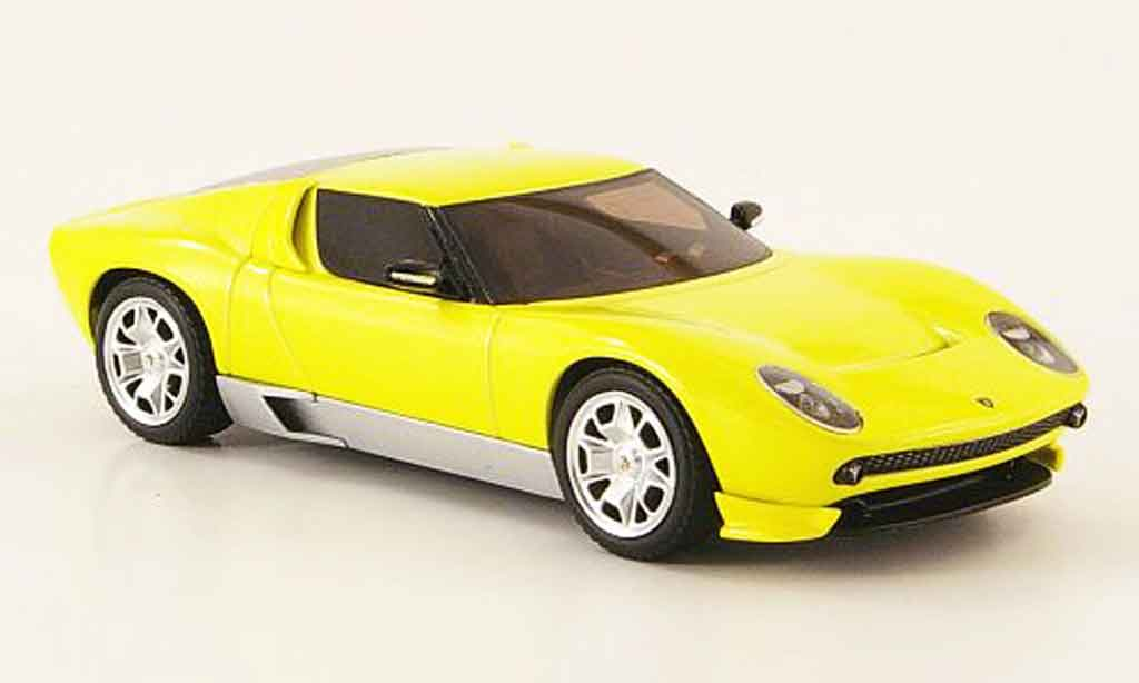 Lamborghini Miura Concept 1/43 Hot Wheels Elite yellow diecast