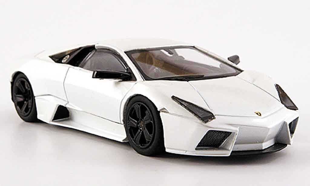 Lamborghini Murcielago Reventon 1/43 Hot Wheels Elite blanche miniature