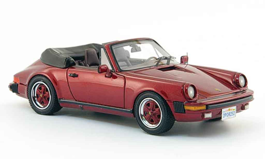 Porsche 930 1/43 Neo Carrera Cabrio rouge US Version 1985