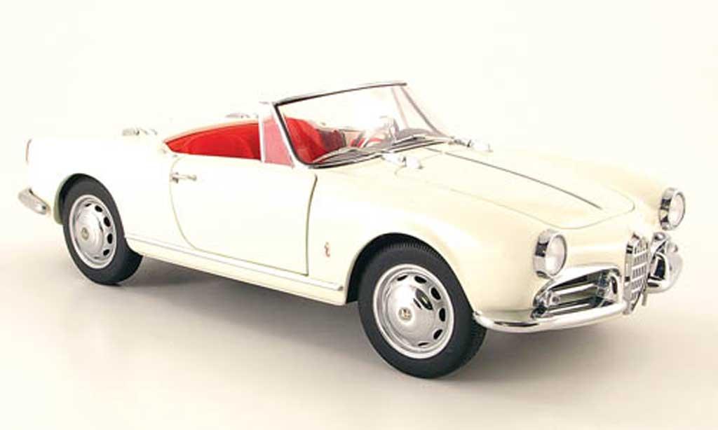 Alfa Romeo Giulietta 1/18 Autoart 1300 spider blanche 1955 miniature