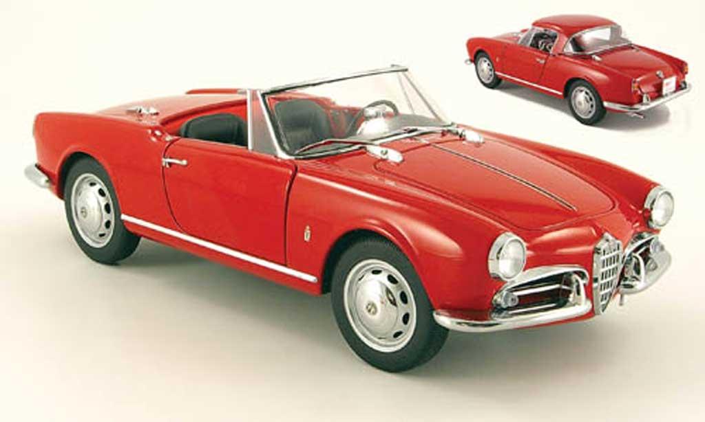 Alfa Romeo Giulietta 1/18 Autoart 1300 spider rojo 1955 coche miniatura