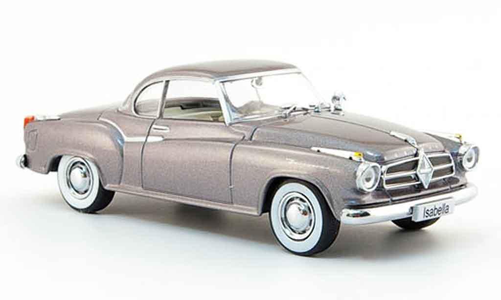 Borgward Isabella 1/43 Auto Klassiker Coupe grise 1957 miniature