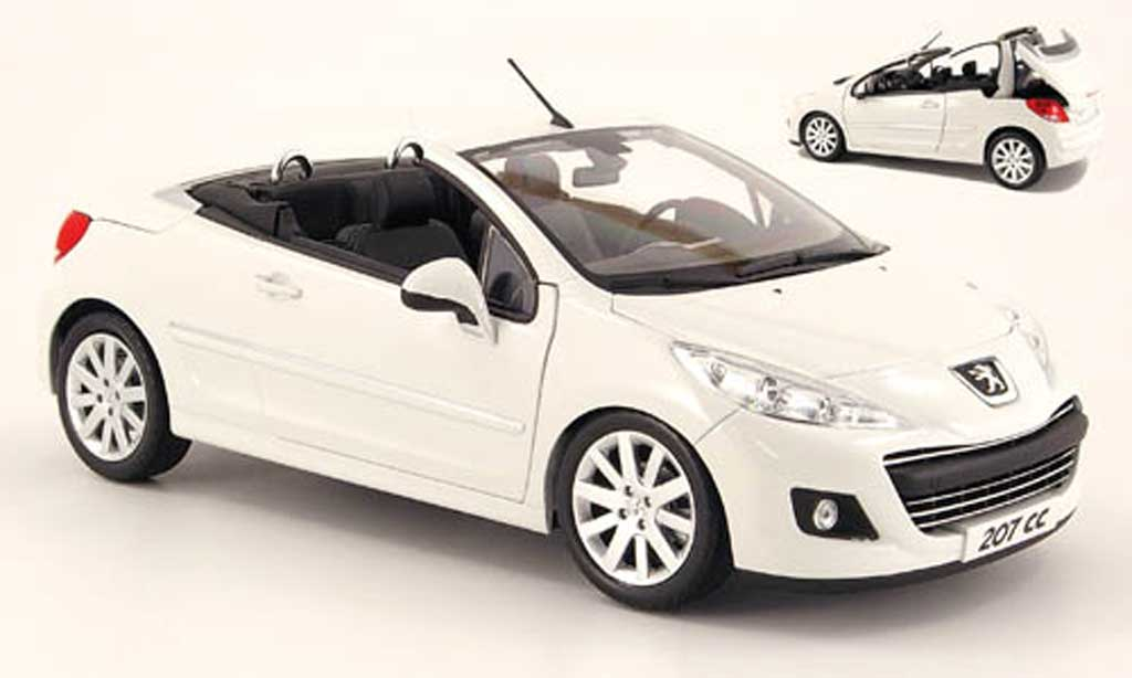 Peugeot 207 CC 1/18 Norev blanche 2009 miniature