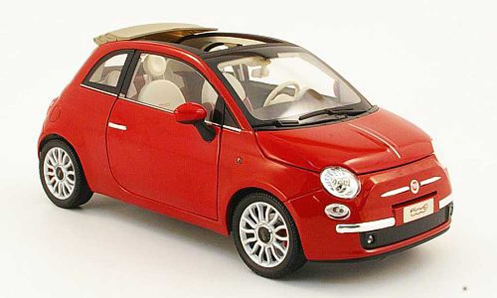 Fiat 500 Abarth 1/18 Norev cabriolet rouge 2009 miniature