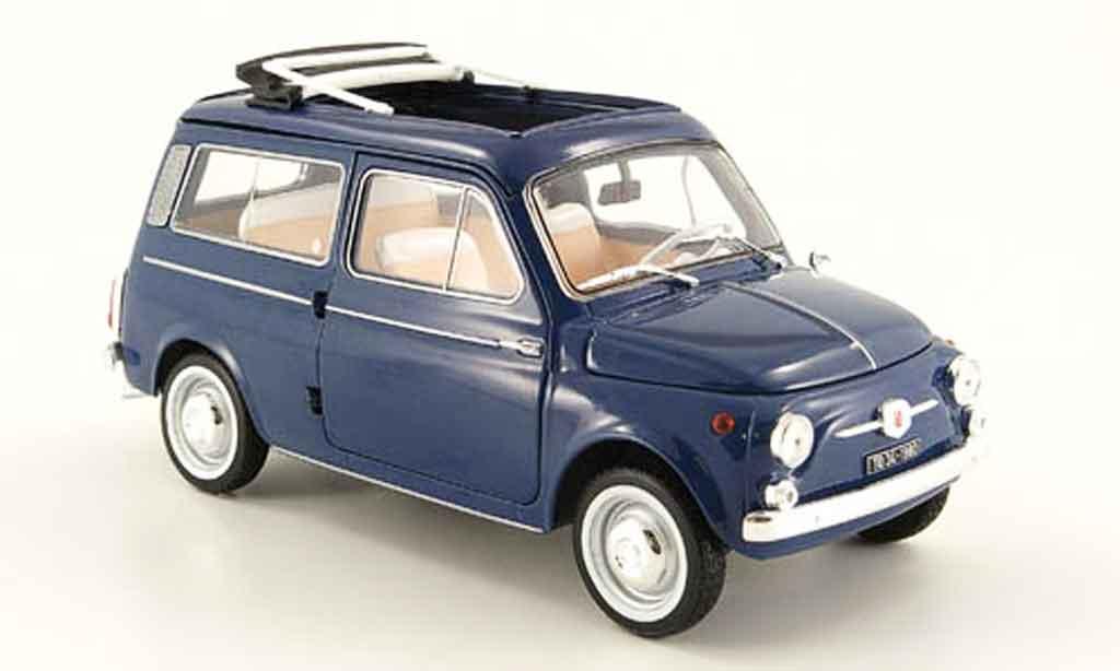 Fiat 500 1/18 Norev giardiniera bleu 1960 diecast