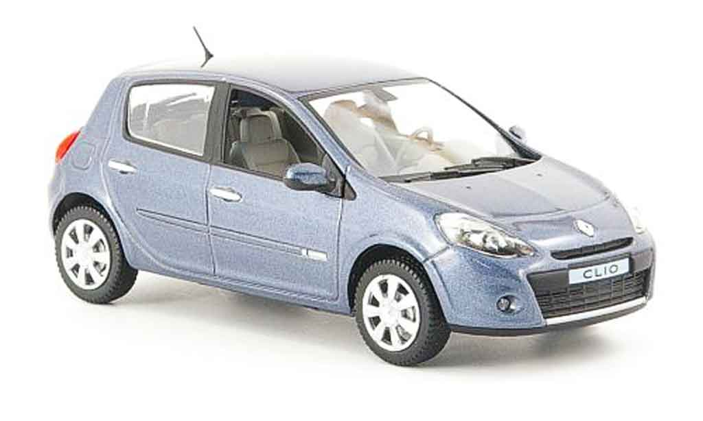 Renault Clio 1/43 Norev grise 5 turig 2009 miniature