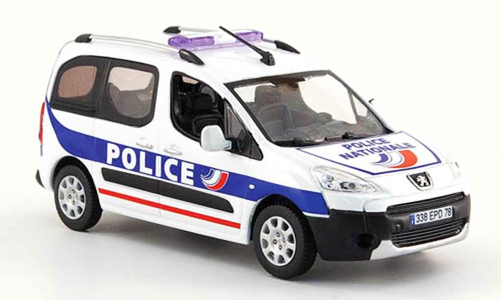 Peugeot Partner 1/43 Norev police nationale police 2008 miniature