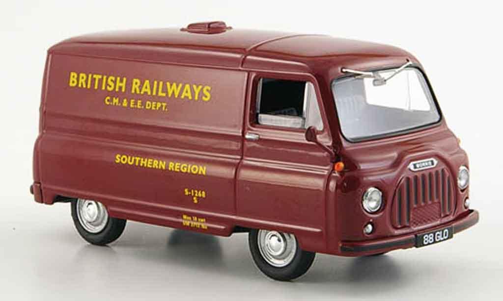 Morris J2 1/43 Vanguards Van rouge British Railways Region Sud 1962 miniature