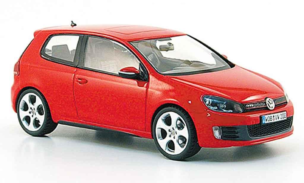 Volkswagen Golf VI GTI 1/43 Schuco rouge 2009 miniature