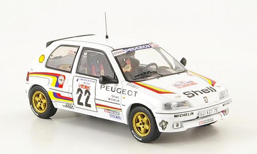 Peugeot 106 XSI 1/43 IXO No.22 Sport Rally Corse 1993 Panizzi diecast model cars