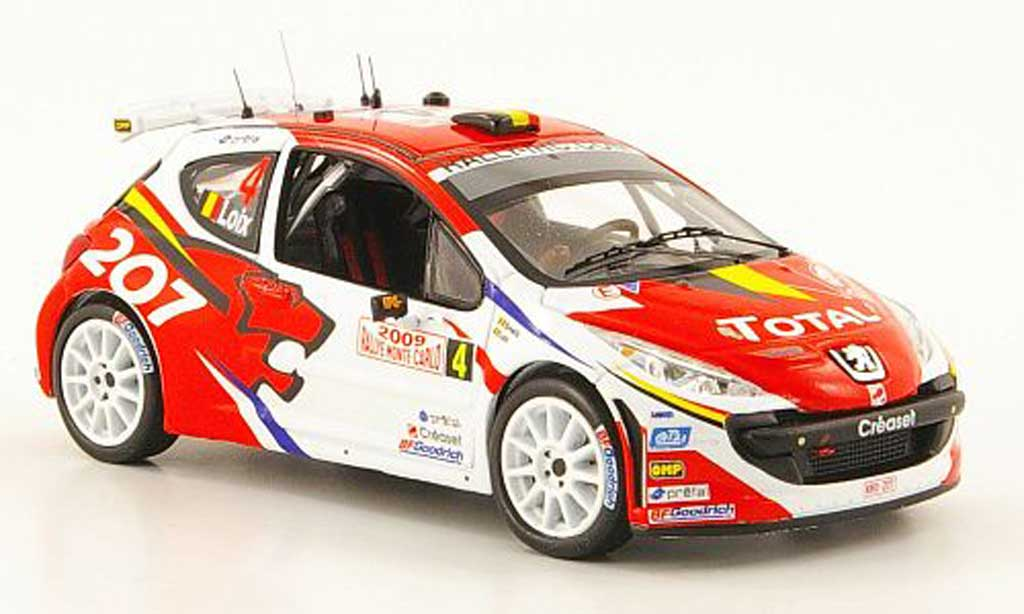 Peugeot 207 S2000 1/43 IXO No.4 Total Rally Monte Carlo  2009 F.Loix / I.Smets diecast