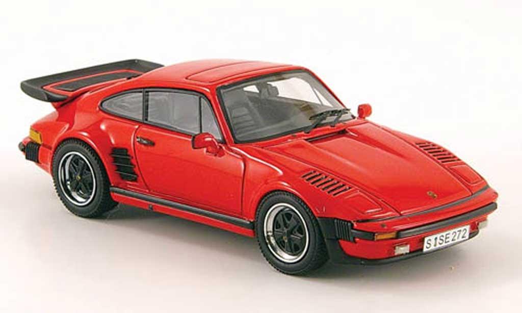 Porsche 930 Turbo 1/43 Neo SE Flatnose rouge  1987 miniature