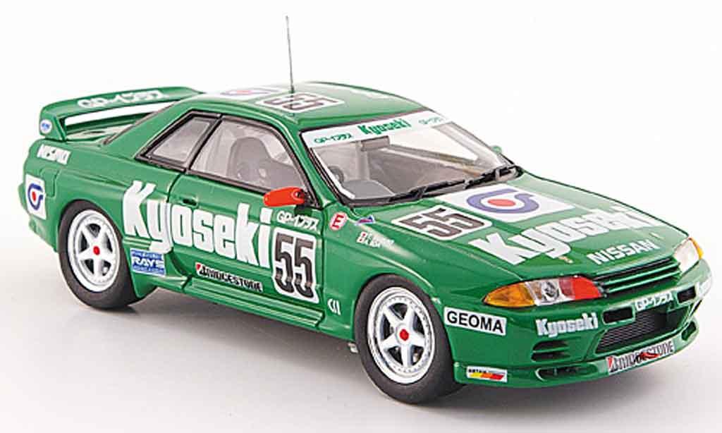 Nissan Skyline R32 1/43 Ebbro GT R Gr.A No.55 Kyoseki grun 1993 diecast model cars