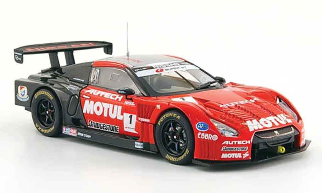 Nissan Skyline R35 1/43 Ebbro GT R No.1 Motul Autech Okayama Test 2009 modellino in miniatura