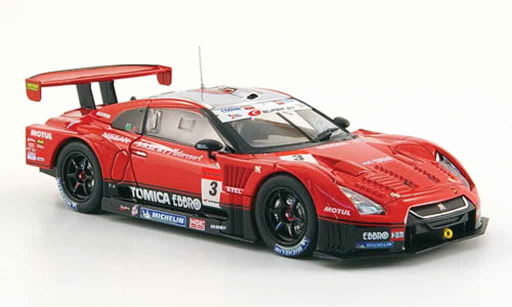 Nissan Skyline R35 1/43 Ebbro GT R No.3 Hasemi Tomica Super GT 500 2009 miniature