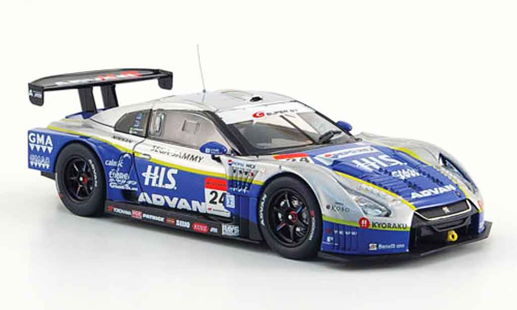 Nissan Skyline R35 1/43 Ebbro GT R No.24 HIS Advan Kondo Super GT 500 2009 miniature