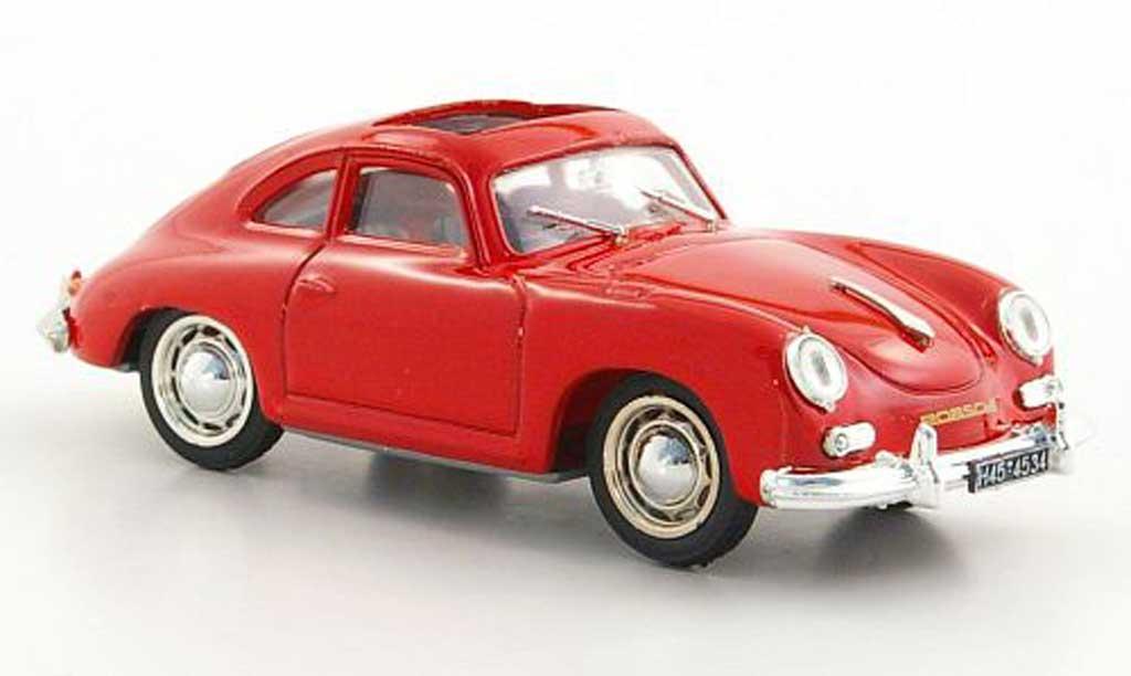 Porsche 356 1952 1/43 Brumm Coupe grise  geoffnetes Schiebedach miniature