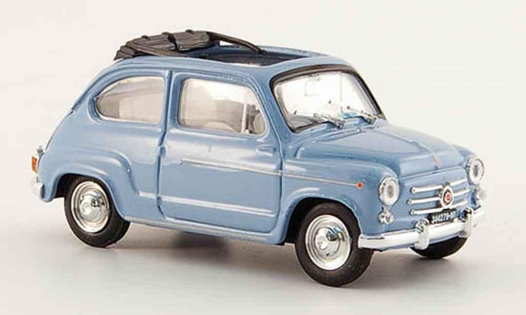 Fiat 600 1/43 Brumm D offen bleu 1960 miniature