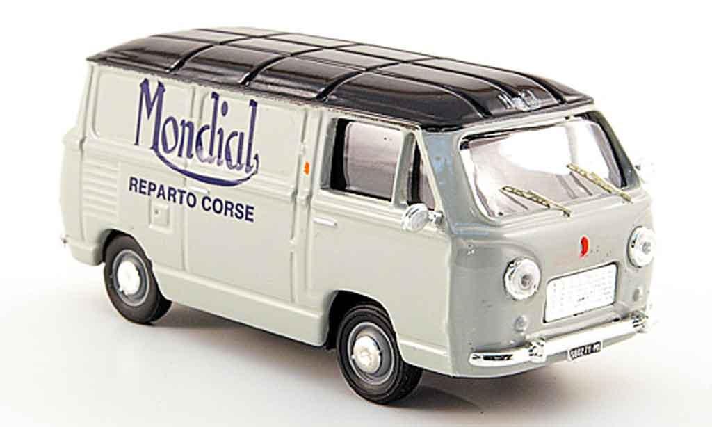 Fiat 600 1/43 Pego T Mondial Reparto Corse gray  bleu 1959 diecast