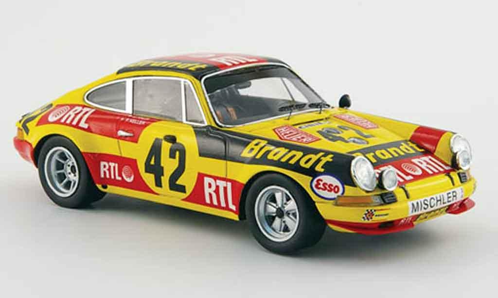 Porsche 911 1/43 Spark S No.42 Brandt RTL 24h Le Mans 1972 miniature