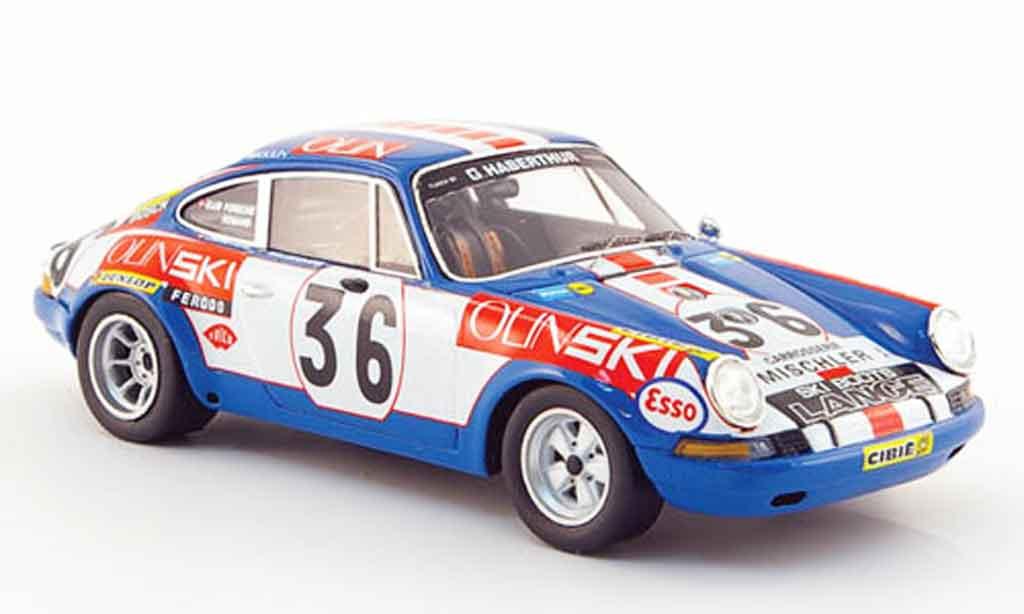 Porsche 911 1/43 Spark S No.36 Olin Ski 24h Le Mans 1971 miniature