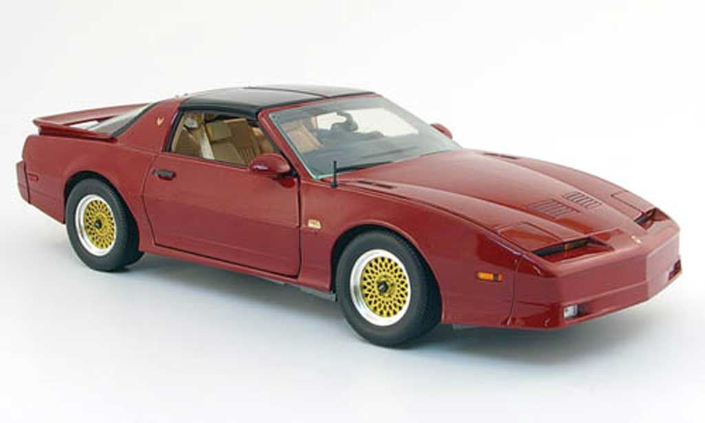 Pontiac Trans Am 1/18 Greenlight gran turismo americano (gta) rouge 1989 miniature