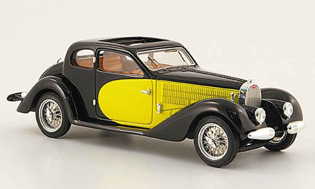 Bugatti 57 SC 1/43 Luxcar ventoux noire jaune 1938 miniature