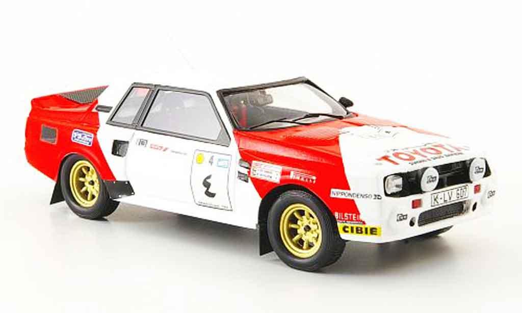 Toyota Celica 1/43 Bizarre twin cam turb no.1 rallye avectlerer osten 1984 diecast model cars