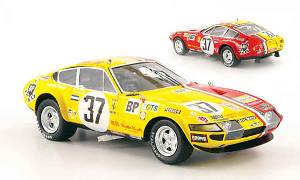 Ferrari 365 GTB/4 1/43 Red Line no.37 24h le mans 1973 miniature