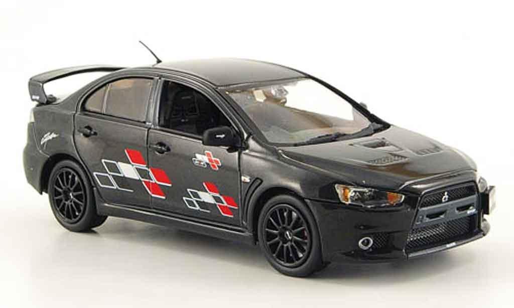 Mitsubishi Lancer Evolution X 1/43 Vitesse Ralliart noire miniature