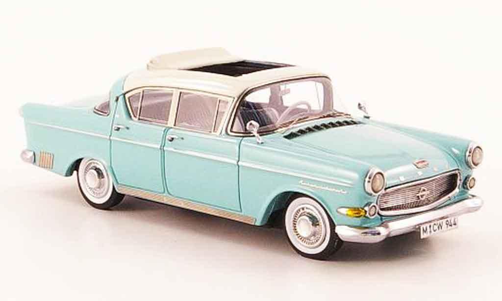 Opel Kapitan 1/43 Neo 2.5 l turquoise creme liavec.  auflage 300 1958 miniature