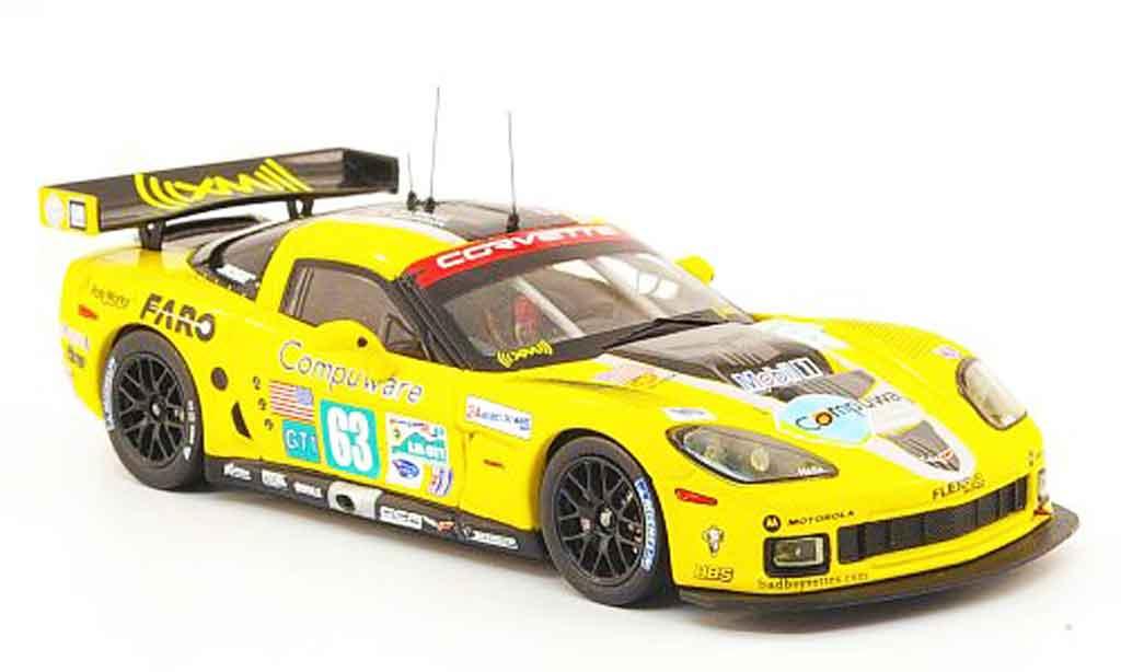 Chevrolet Corvette C6 1/43 IXO R No.63 Compuware 24h Le Mans 2009 diecast
