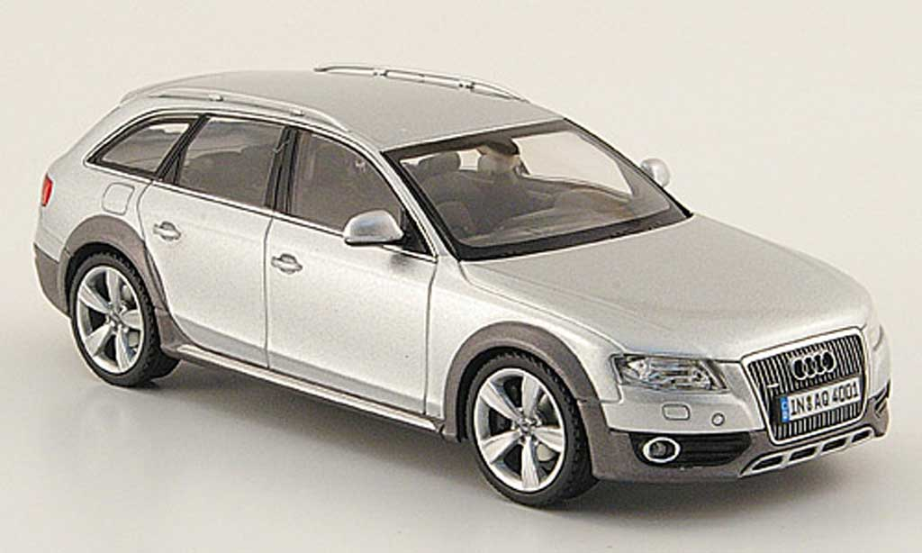Audi A4 1/43 Schuco Allroad grey 2009 diecast model cars