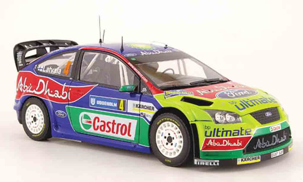 Ford Focus RS WRC 1/18 Sun Star no.4 bp/abu dhabi rallye schweden 2008 miniature