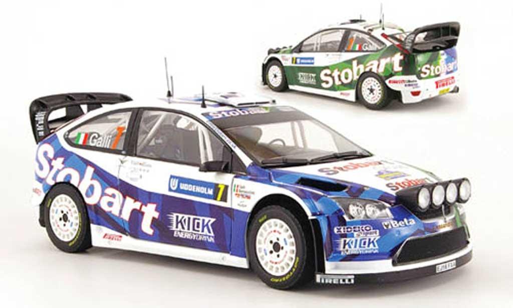 Ford Focus RS WRC 1/18 Sun Star no.7 stobart rallye schweden 2008 miniatura