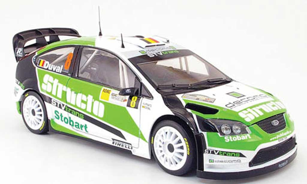 Ford Focus RS 1/18 Sun Star wrc 07 no.8 structo rallye deutschland 2008 f.duval / p.pivato miniature