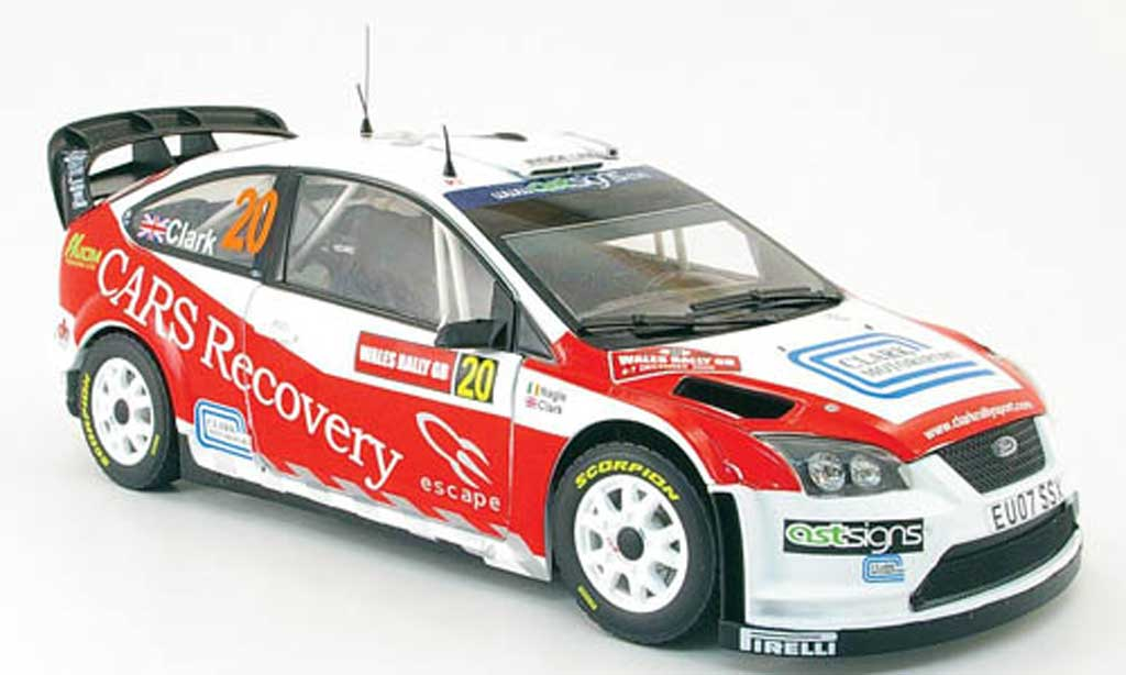 Ford Focus RS WRC 1/18 Sun Star 07 no.20 pays de galles rallye gb 2008 miniature