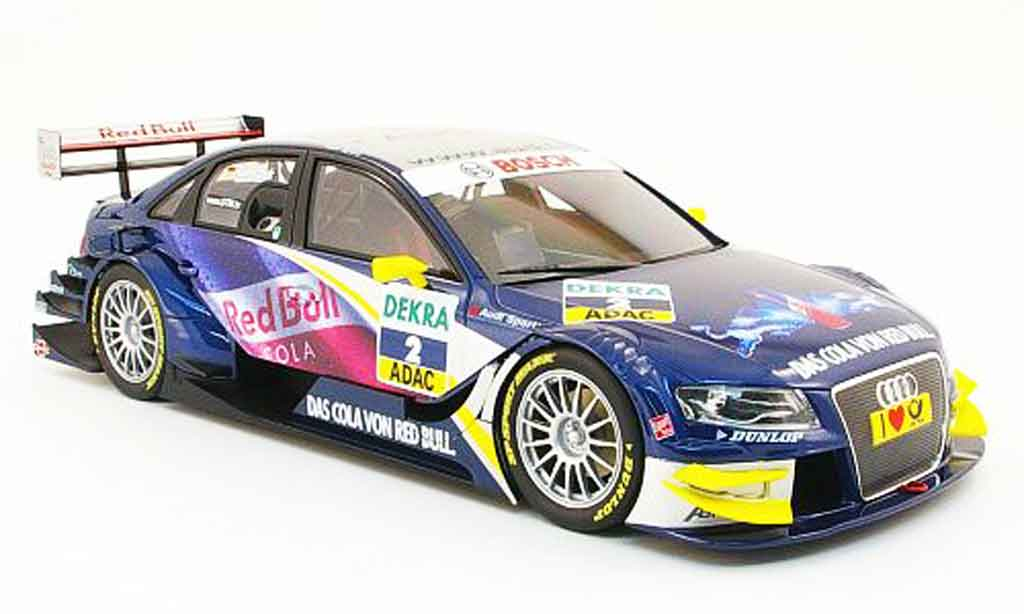Audi A4 DTM 1/18 Norev no.2 red bull m.tomczyk stw 2008 miniature