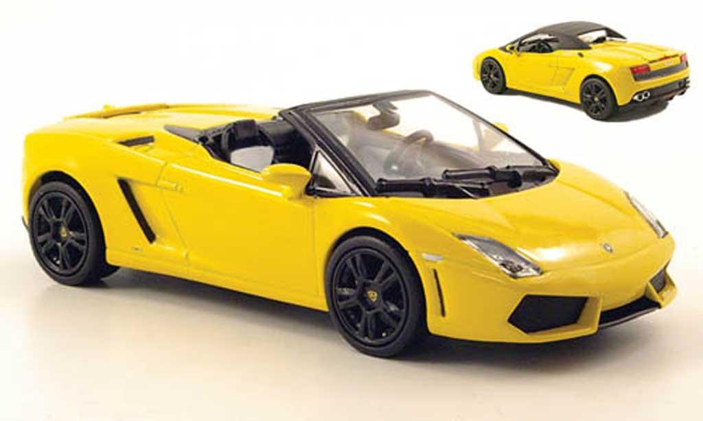 Lamborghini Gallardo LP560-4 1/43 Norev Spyder jaune 2009 miniature