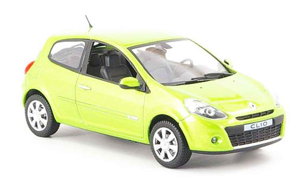 Renault Clio 1/43 Norev grun 2009 miniature