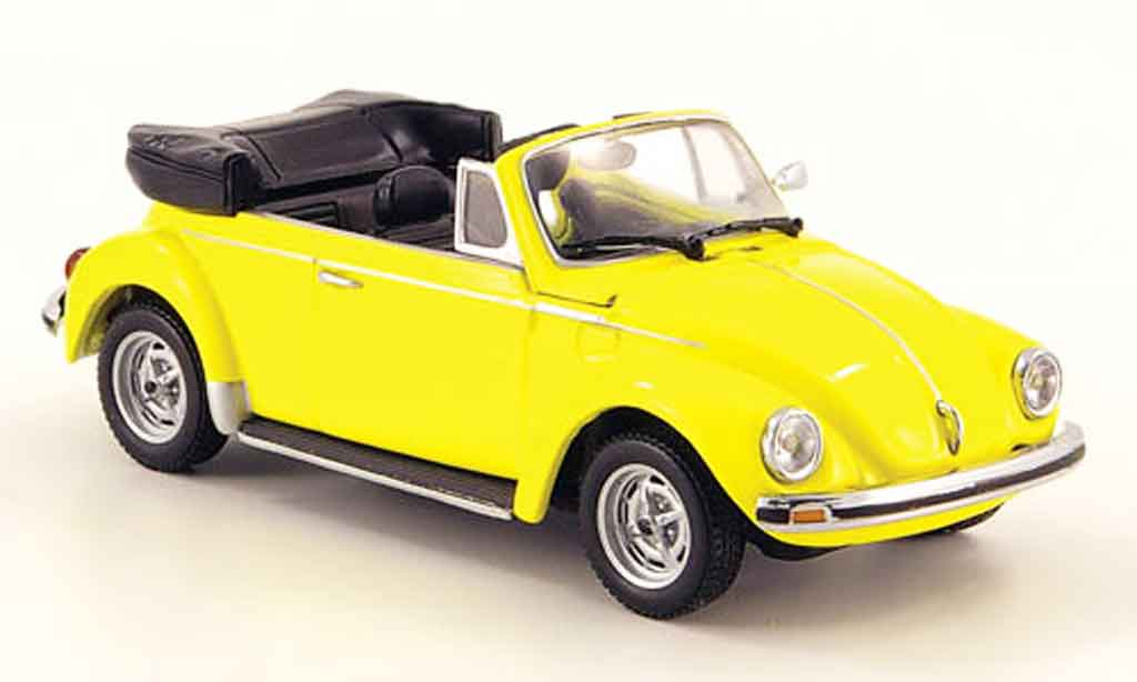 Volkswagen Coccinelle 1/43 Minichamps 1303 cabriolet yellow 1974 diecast model cars