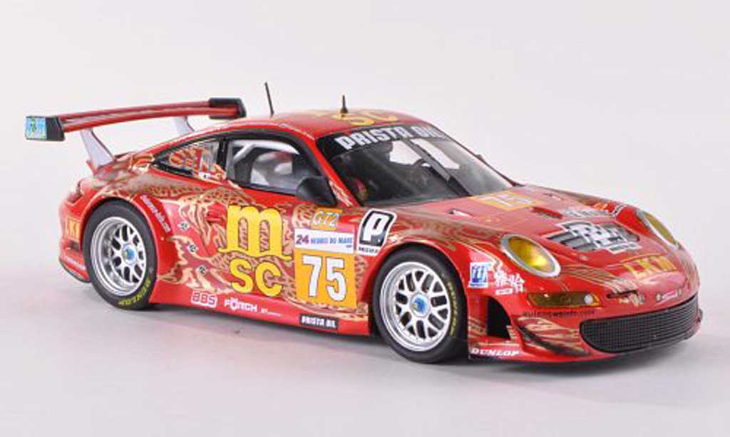 Porsche 997 GT3 Cup 2009 1/43 Minichamps No.75 Prista Oil 24h Le Mans miniatura