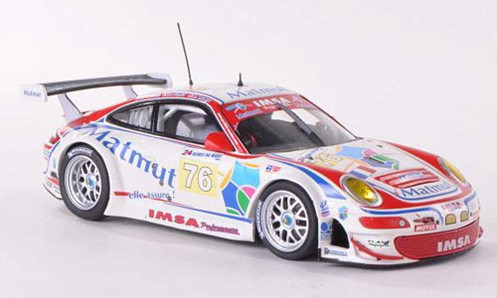 Porsche 997 GT3 RSR 1/43 Minichamps 2009 No.76 Matmut 24h Le Mans Narac/Long/Pilet diecast model cars