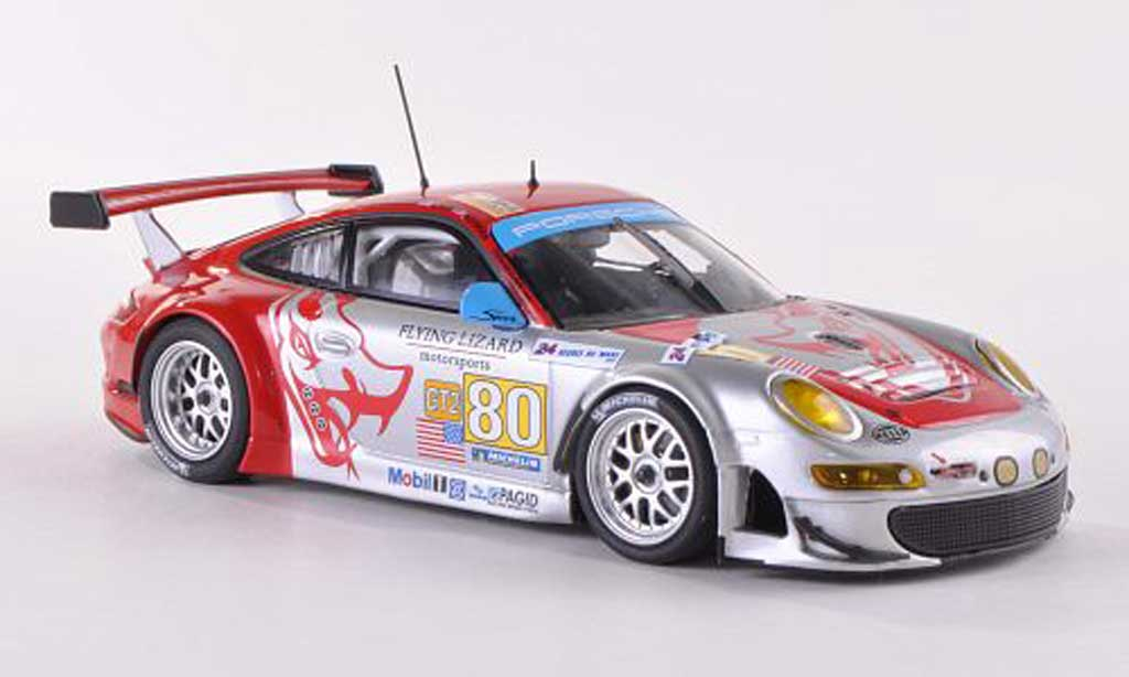 Porsche 997 GT3 RSR 1/43 Minichamps 2009 No.80 Flying Lizard 24h Le Mans Bergmeister/Neiman/Law diecast model cars