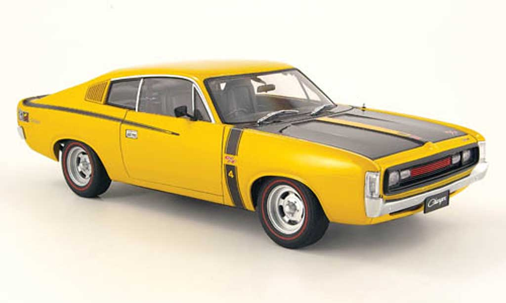 Chrysler Charger 1/18 Autoart e49 jaune miniature